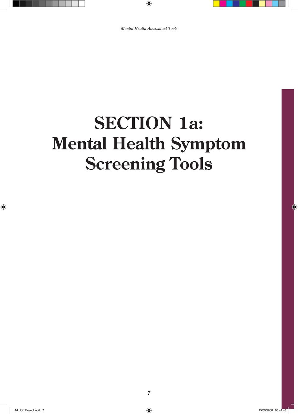 Mental Health Assessment Tools Contents Pdf Free Download