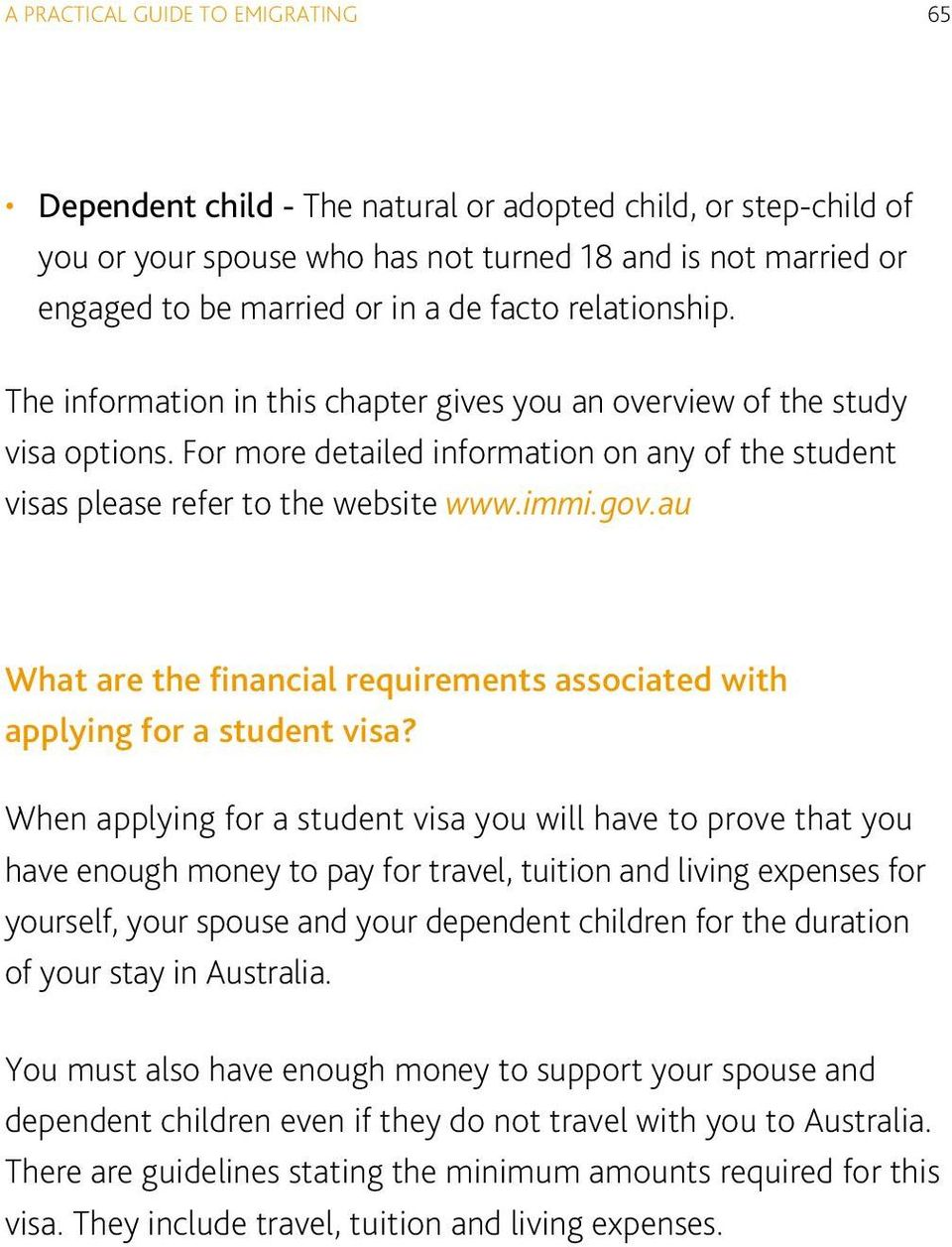 au What are the financial requirements associated with applying for a student visa?