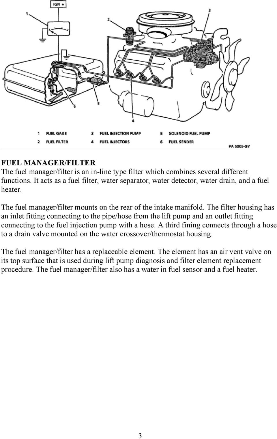 Pdf 2011 F250 Fuel Filter Housing The Has An Inlet Fitting Connecting To Pipe Hose From Lift