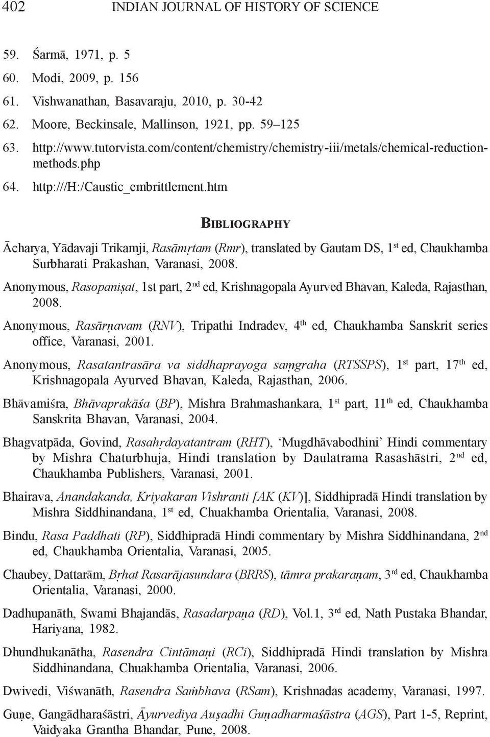 Purification And Detoxification Procedures For Metal Ta Mra In How To Read Electrical Drawings Tutorvista Answers Htm Bibliography Charya Ydavaji Trikamji Rasm Tam Rmr Translated By Gautam