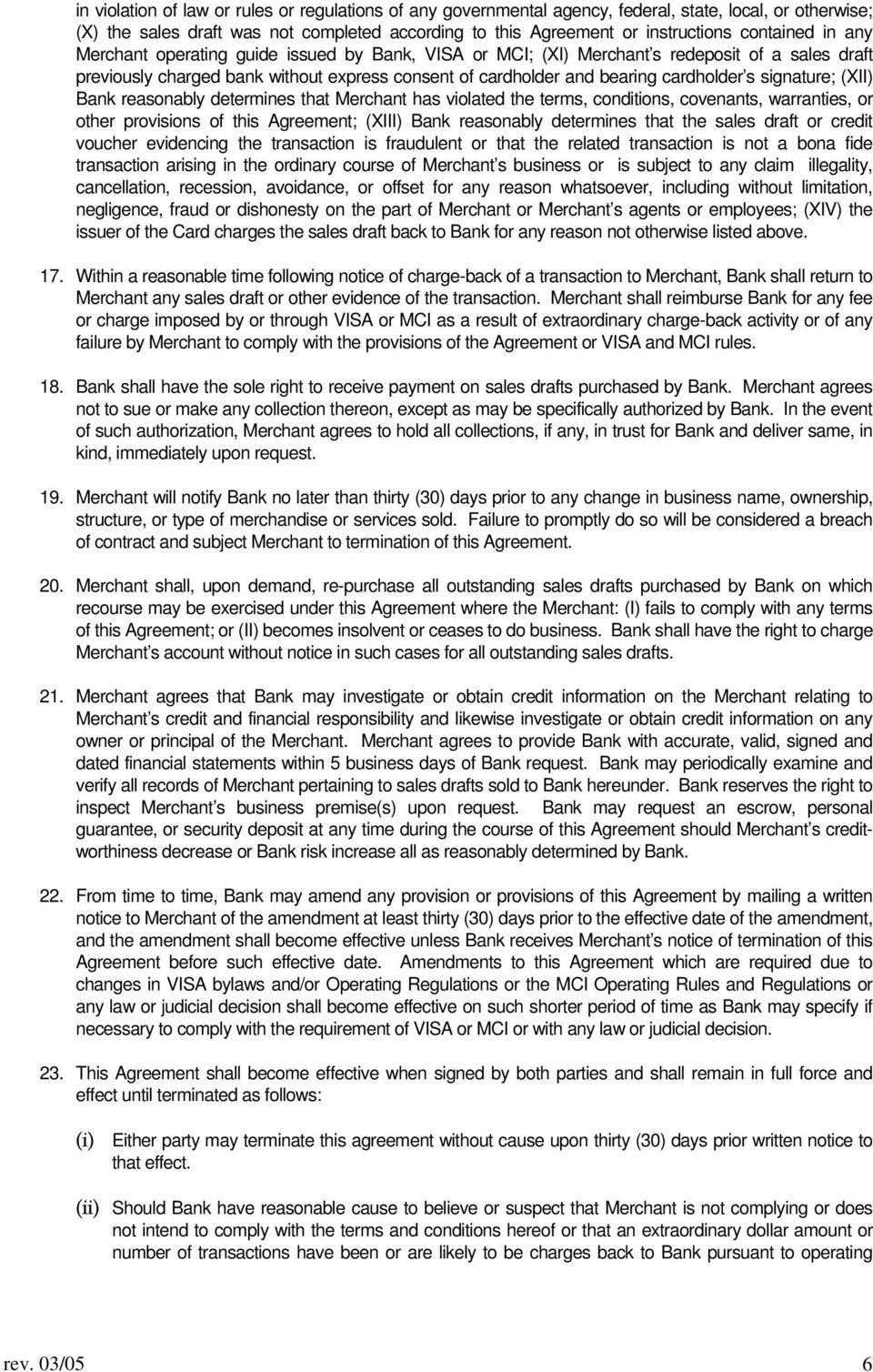 Merchant Agreement This Agreement Is Entered Into By And Between