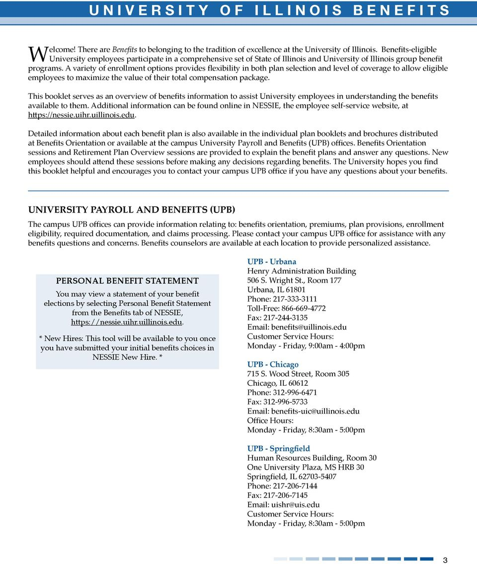 Your Guide To University Of Illinois Benefits July June Pdf Free Download