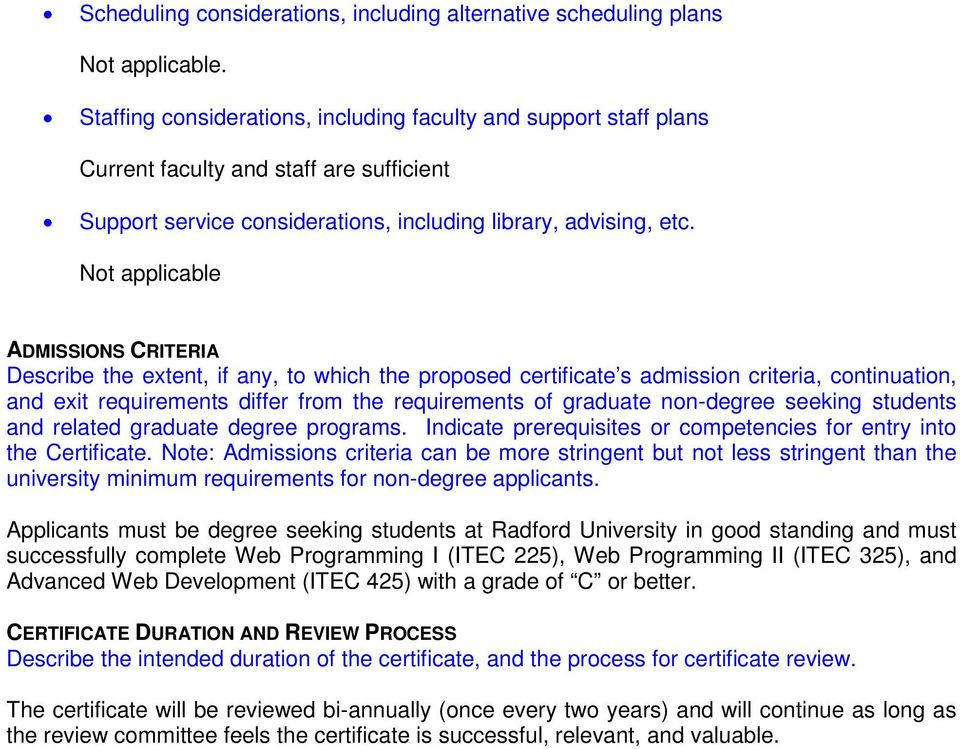 MOTION Motion to Support Creation of Undergraduate Certificate in ...