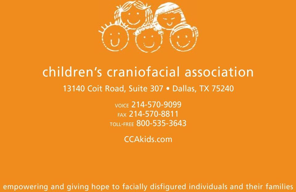 214-570-8811 TOLL-FREE 800-535-3643 CCAkids.