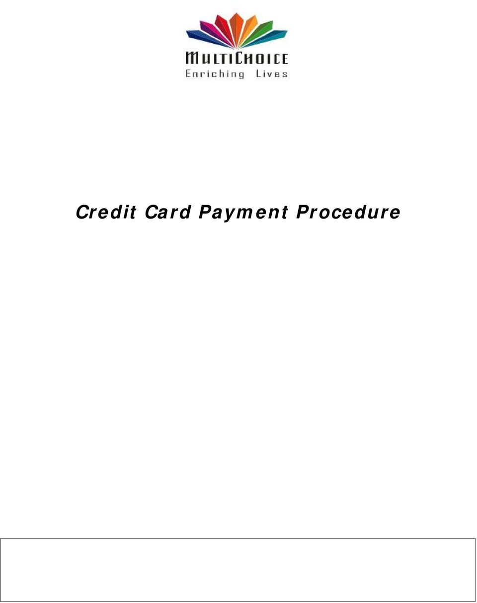 Credit Card Payment Procedure - PDF