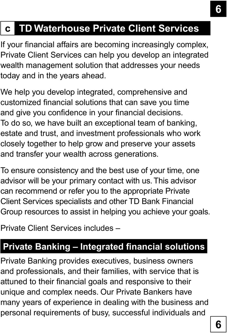 Discover TD Waterhouse  Investment and wealth management for