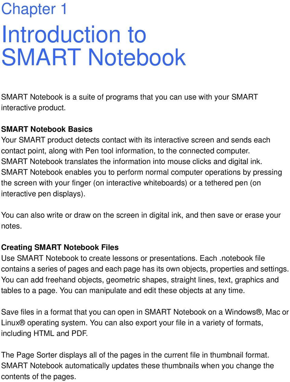 SMART Notebook 10 User s Guide  Linux Operating Systems - PDF
