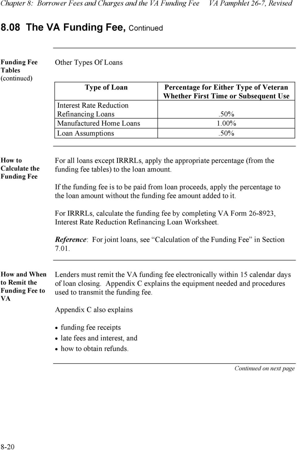 Borrower Fees And Charges And The Va Funding Fee Pdf
