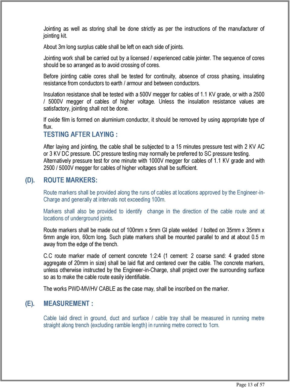 FOR ELECTRICAL WORK TECHNICAL BID ISSUED TO : - PDF