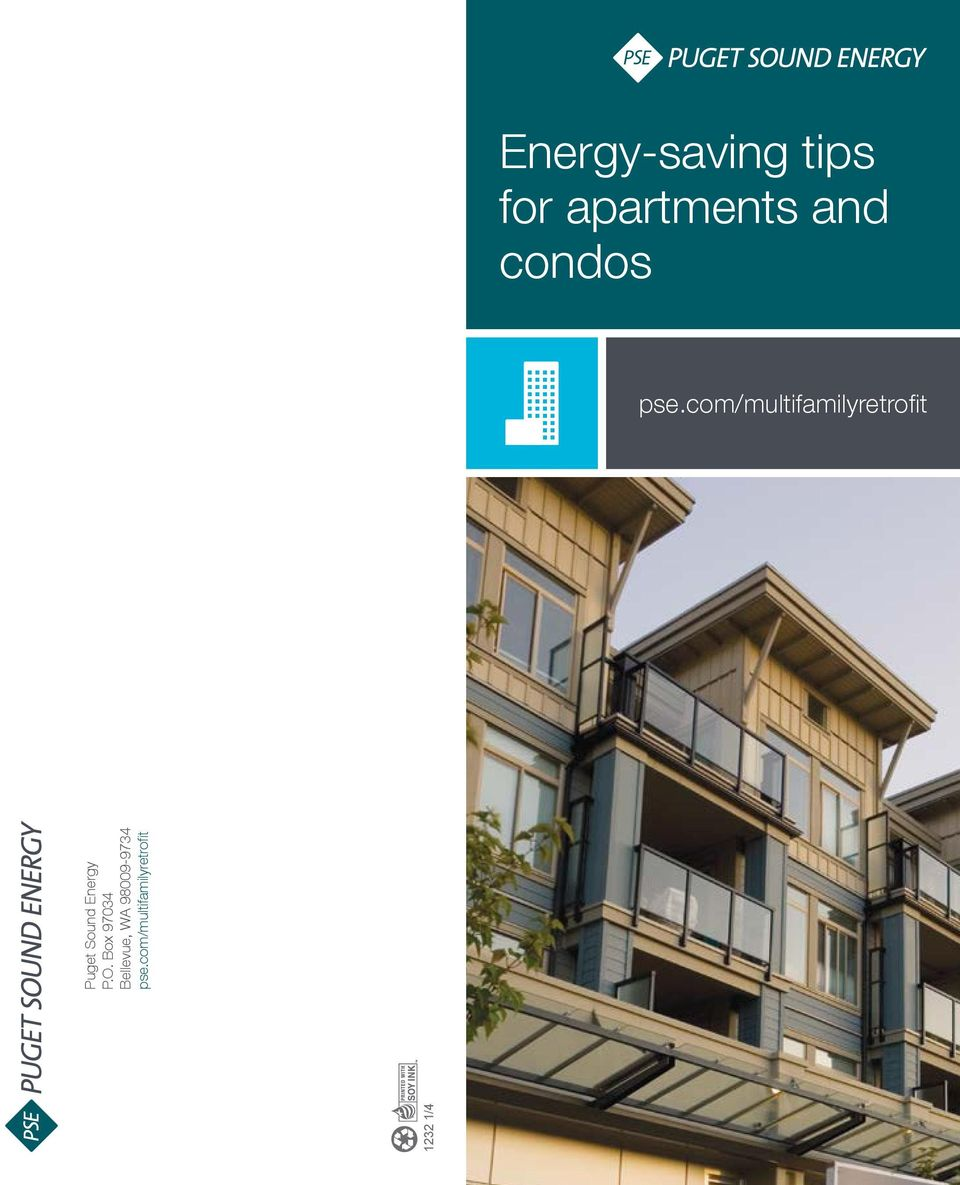 Energy-saving tips for apartments and condos - PDF