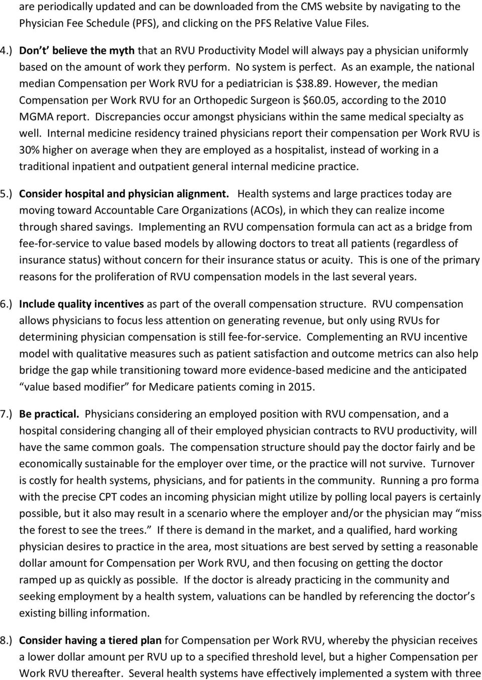 RVU BASED PHYSICIAN COMPENSATION AND PRODUCTIVITY - PDF