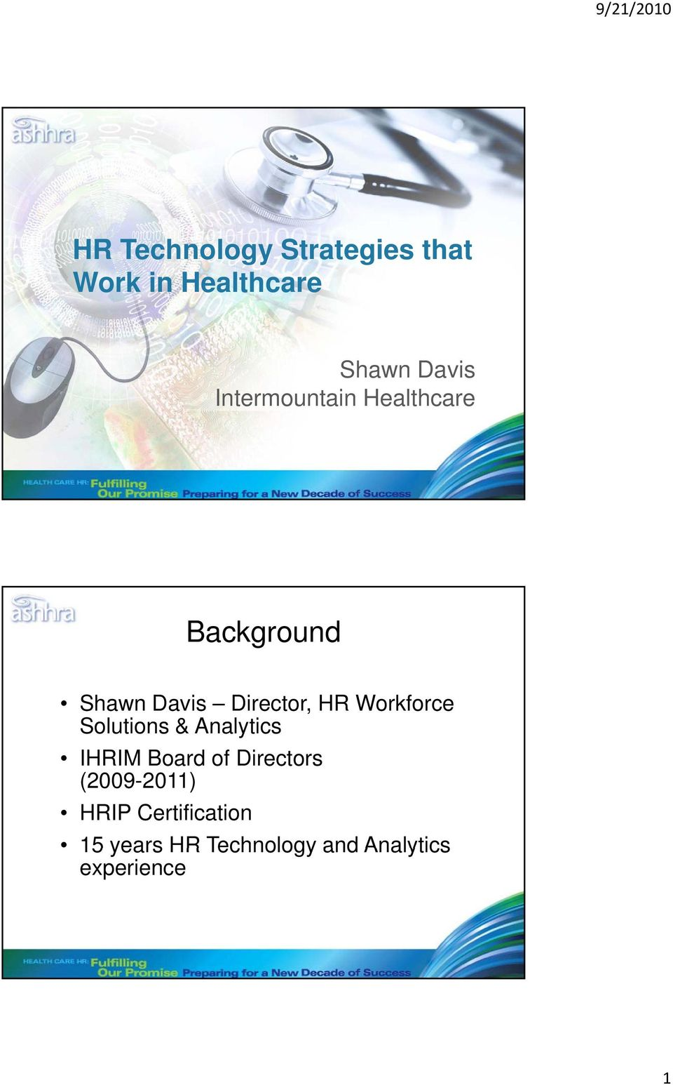 Workforce Solutions & Analytics IHRIM Board of Directors
