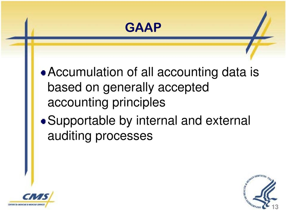 accounting principles Supportable by