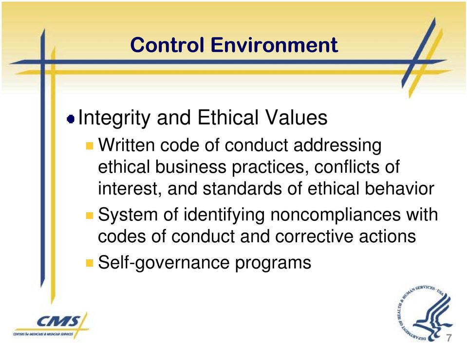 and standards of ethical behavior System of identifying