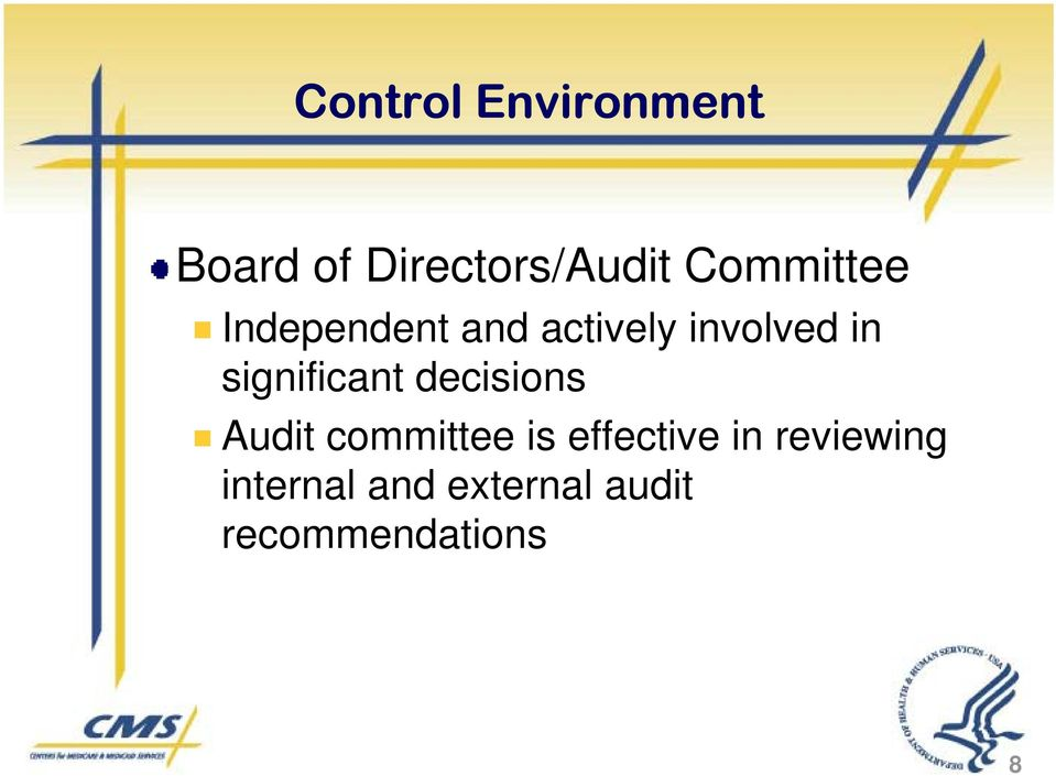 significant decisions Audit committee is effective