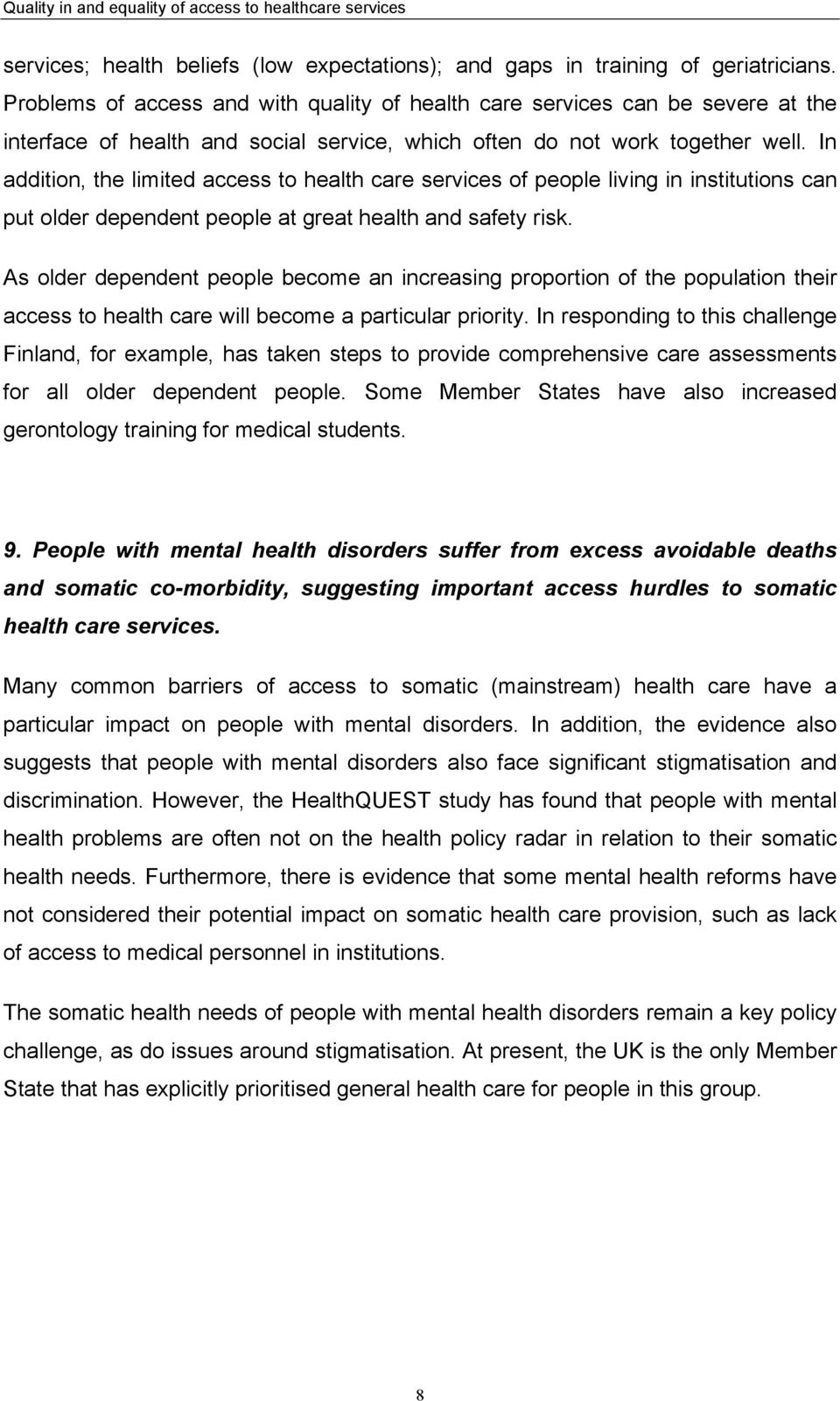 why is equality important in health and social care
