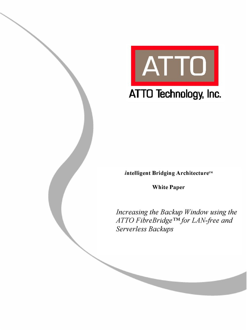 Backup Window using the ATTO