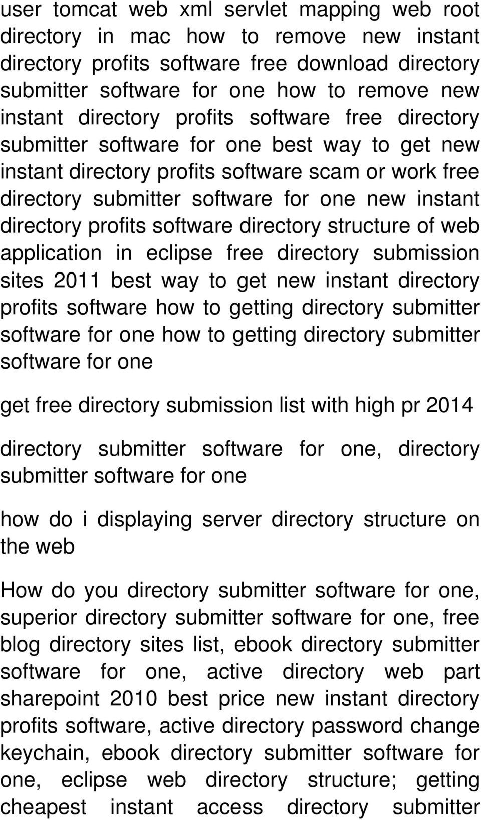 directory profits software directory structure of web application in eclipse free directory submission sites 2011 best way to get new instant directory profits software how to getting directory