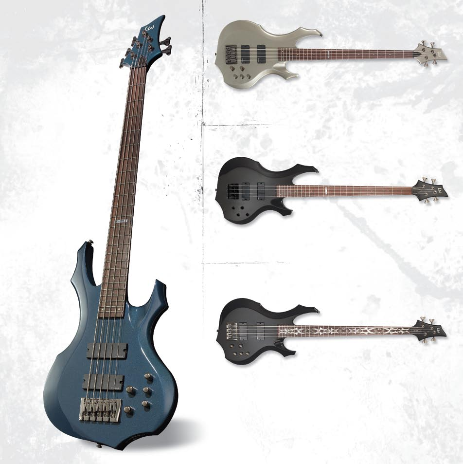 2005 Product Catalog Usa Esp Ltd Xtone Pdf Custom Jazz Bass Mod Master Volume Tone And Balance Control F 254 255 Features Neck Thru Body Construction 35