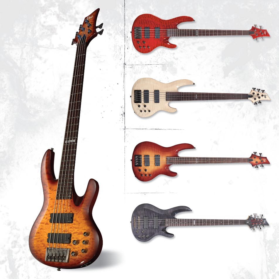 2005 Product Catalog Usa Esp Ltd Xtone Pdf Custom Jazz Bass Mod Master Volume Tone And Balance Control B 404 Jim Lamarca Chimaira 405 Features Neck Thru Body