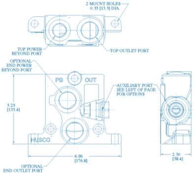 Standard spool types include single acting, double acting, motor and