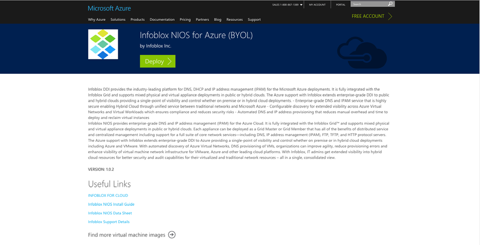 Infoblox Installation Guide  vnios for Microsoft Azure - PDF