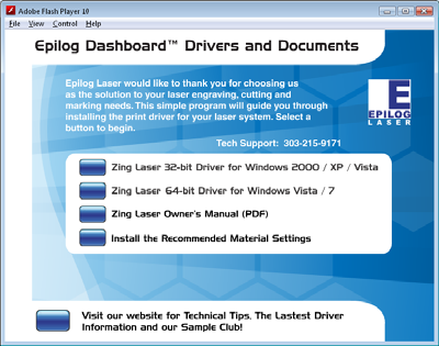 OWNER'S MANUAL FOR EPILOG Zing - MODEL PDF