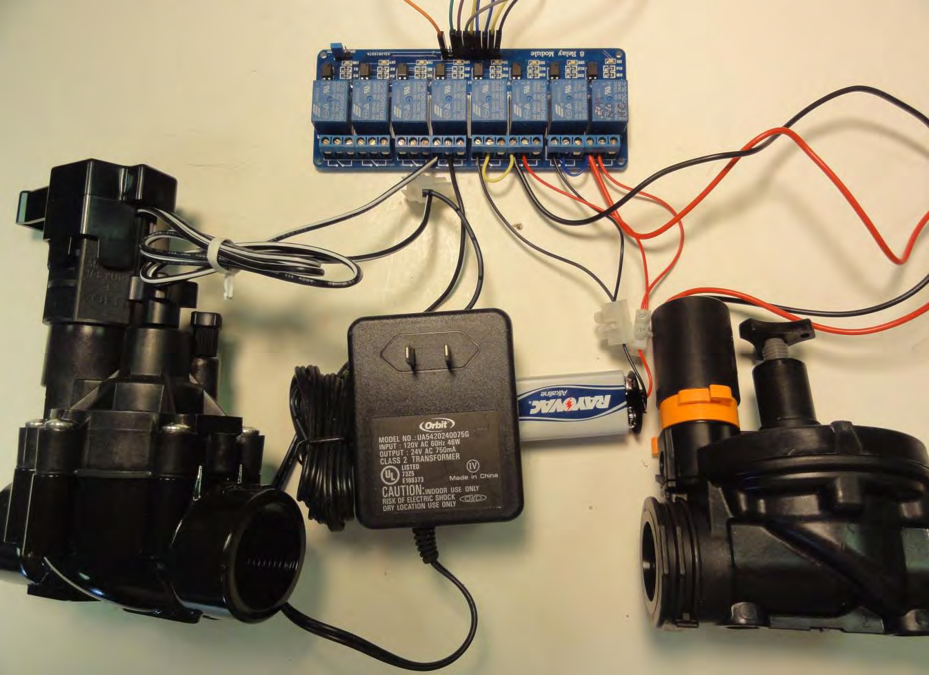 Instructions for building a 4 plot irrigation controller using an