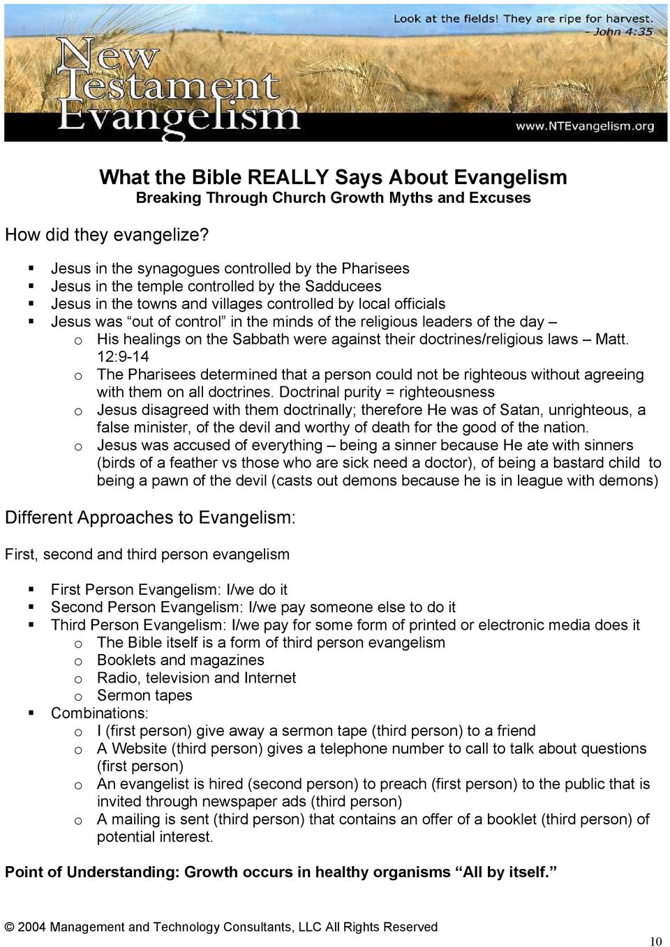 What the Bible REALLY Says About Evangelism Breaking Through Church