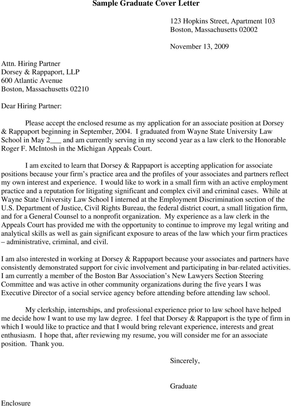 Cover Letter For Law Firm Internship from docplayer.net