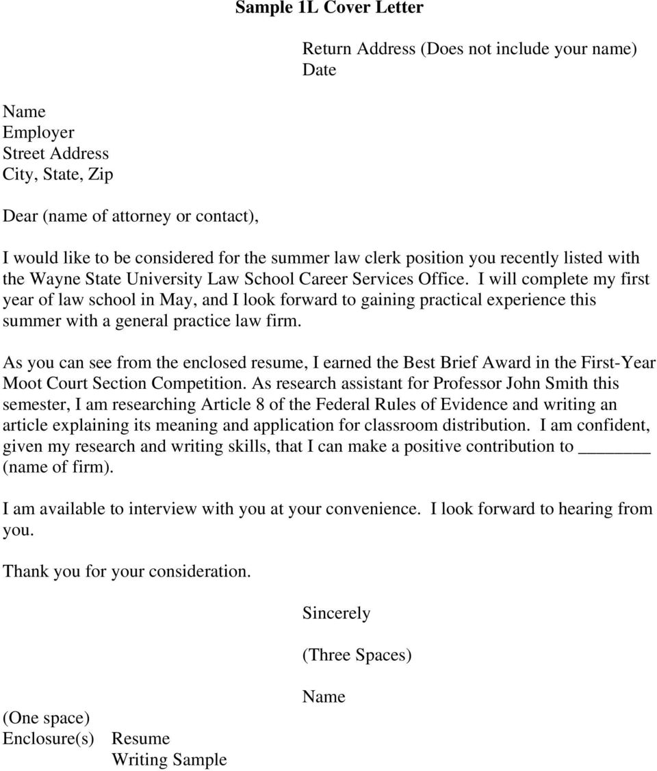Sample Cover Letters Pdf Free Download