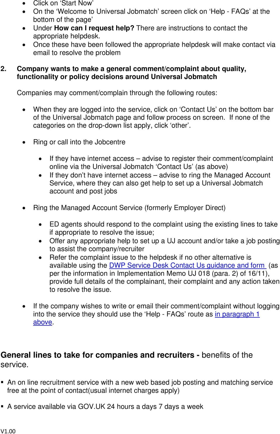 Universal jobmatch employer reference number