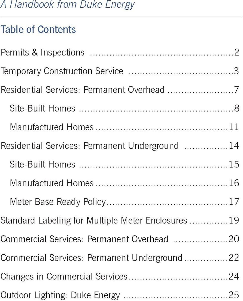 BUILDERS AND CONTRACTORS GUIDE FOR ELECTRIC SERVICE - PDF