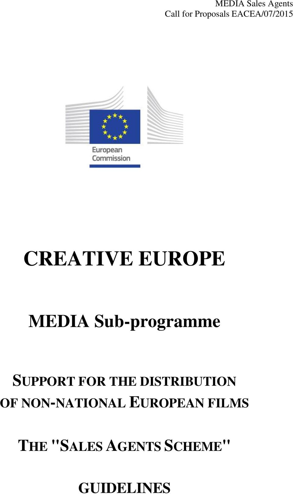 Sub-programme SUPPORT FOR THE DISTRIBUTION OF