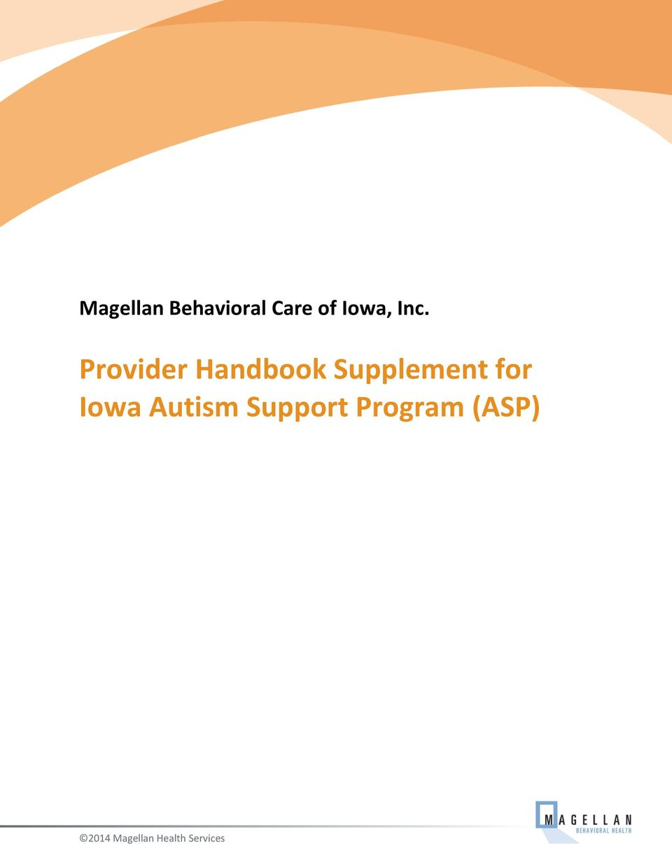 for Iowa Autism Support Program
