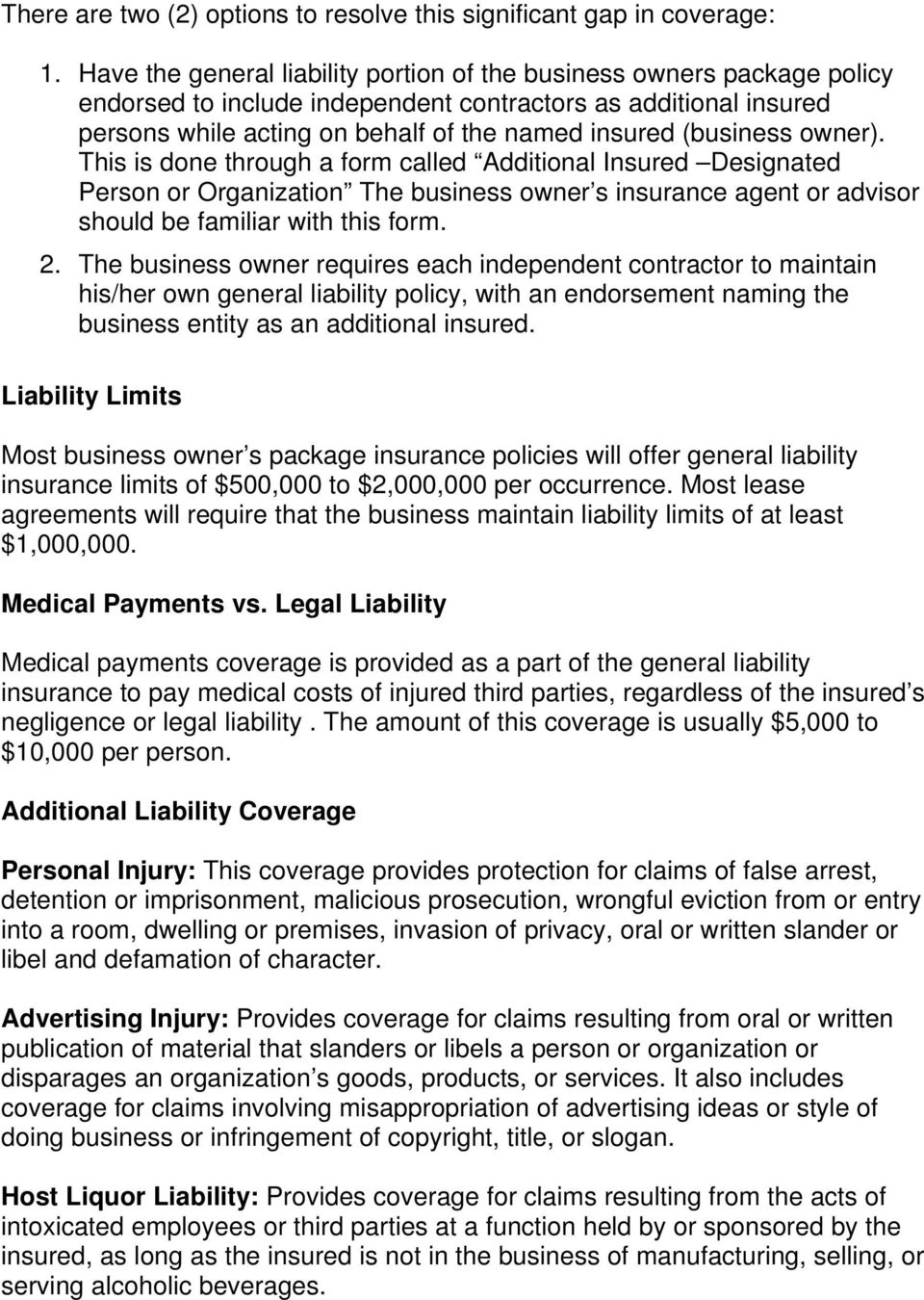 The 9 Things You Must Know About Property And General Liability Insurance Pdf Free Download