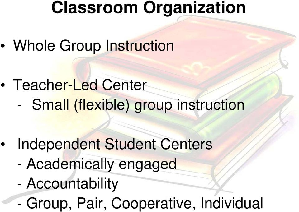 instruction Independent Student Centers -