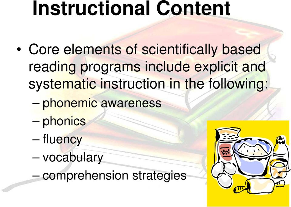 explicit and systematic instruction in the