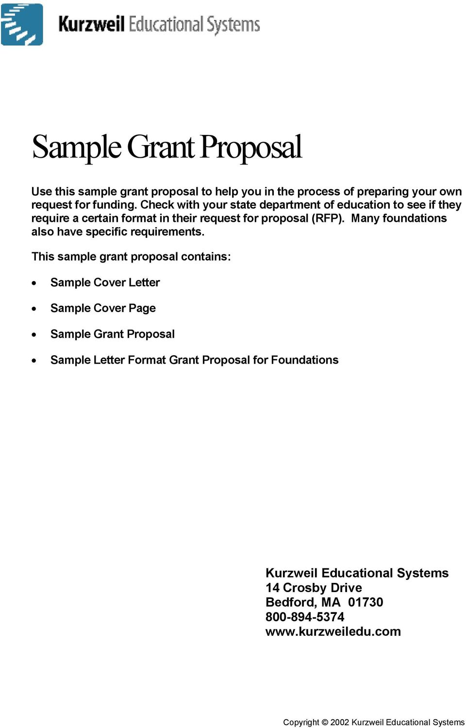 Sample Cover Letter For Grant Proposal from docplayer.net