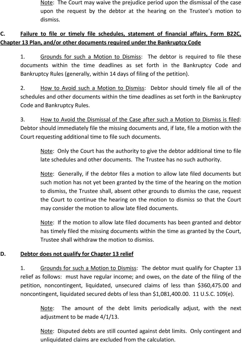 MEMORANDUM ON TRUSTEE S MOTIONS TO DISMISS - PDF