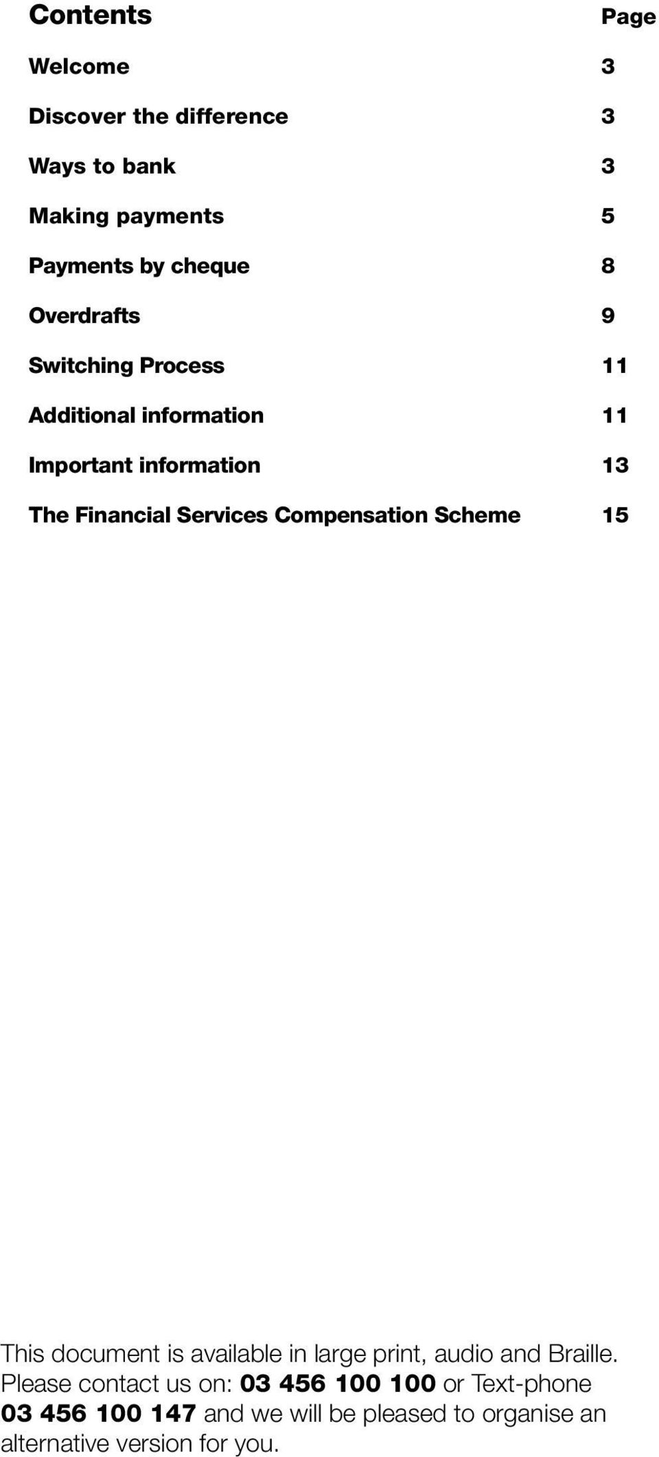 Compensation Scheme 15 This document is available in large print, audio and Braille.
