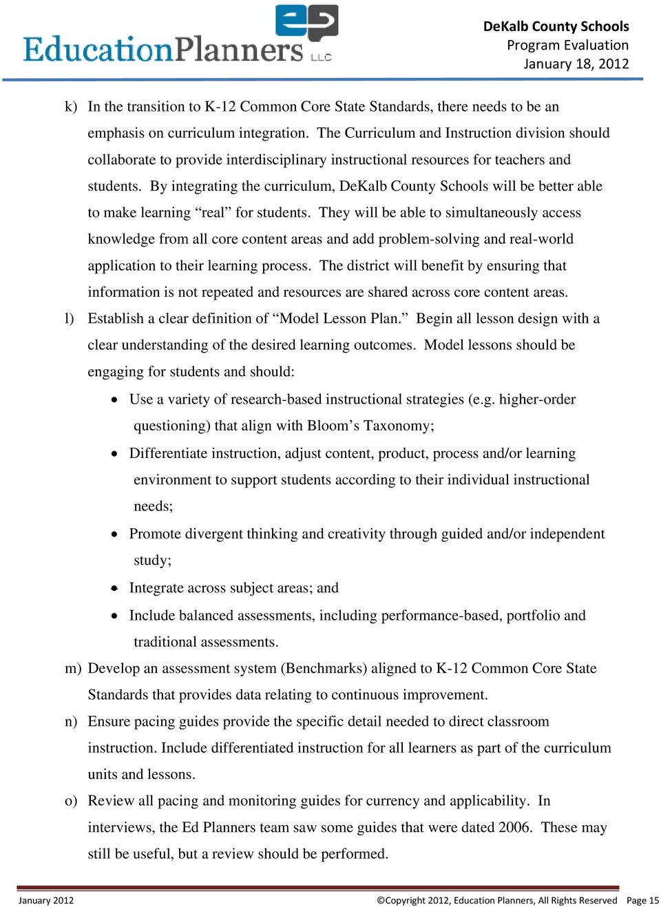 Area Findings Recommendations - PDF