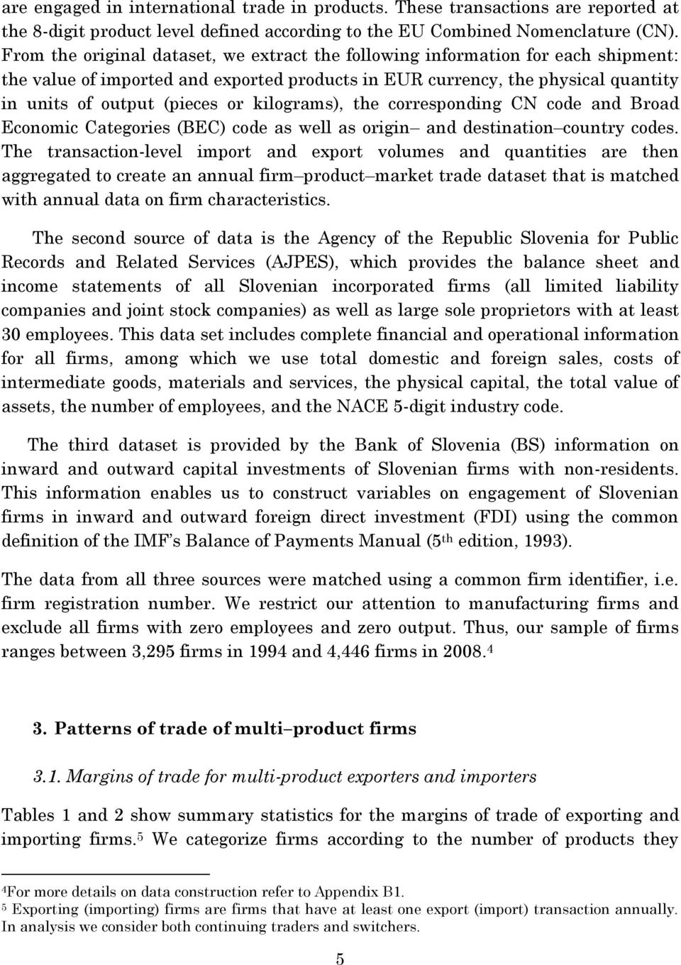 Working Paper Import Churning and Export Performance of Multi