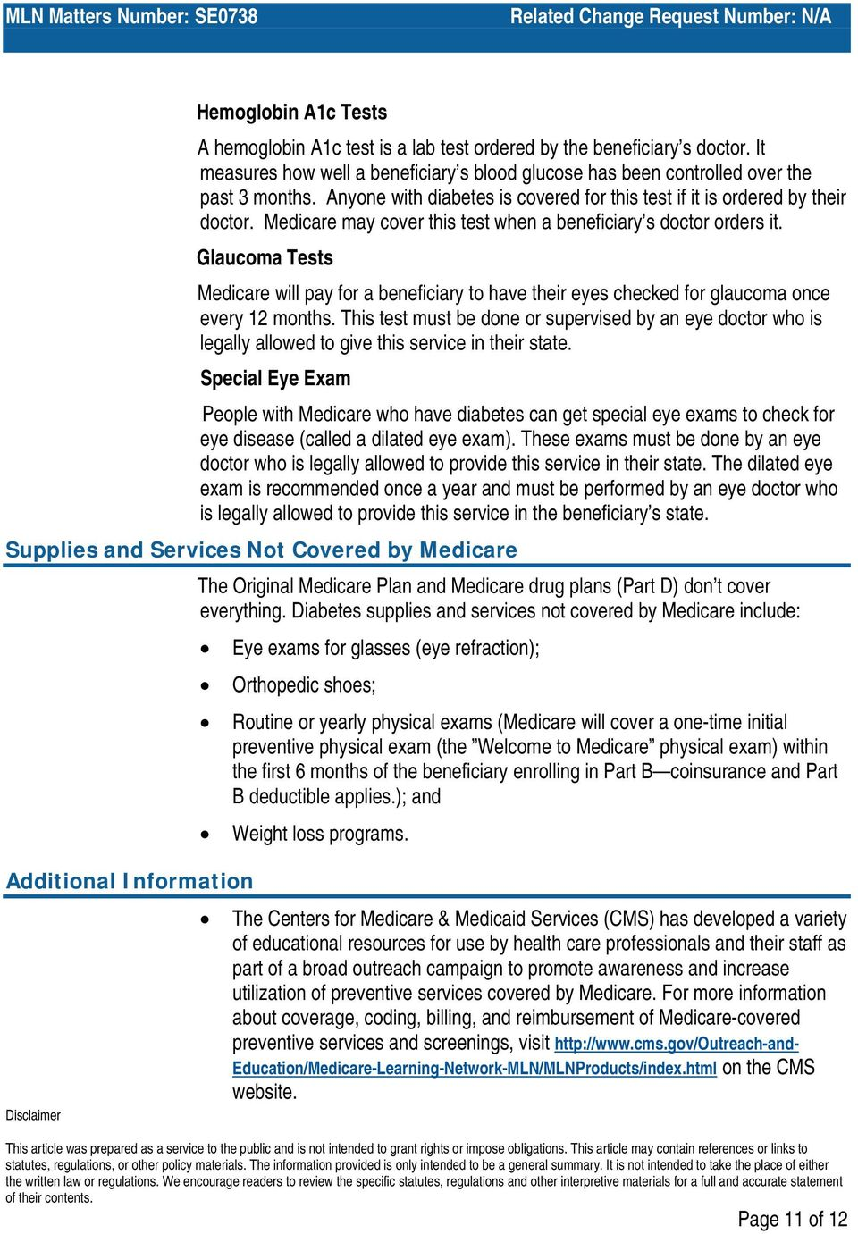 An Overview Of Medicare Covered Diabetes Supplies And Services Pdf