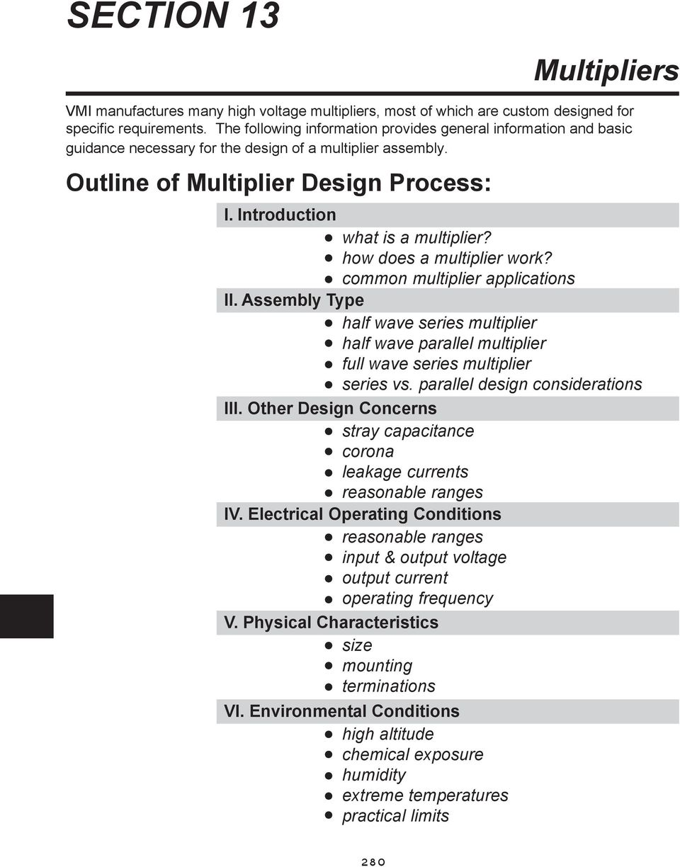 Section 13 Multipliers Outline Of Multiplier Design Process Pdf Voltage How Does A Work Common Applications Ii Assembly Type Half Wave Series