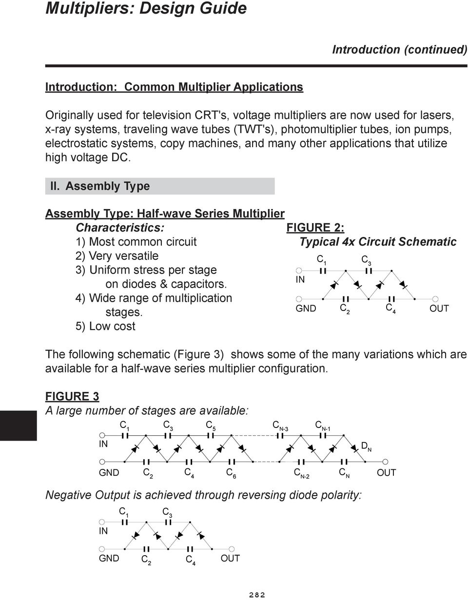 Section 13 Multipliers Outline Of Multiplier Design Process Pdf Rectifiercircuits2 Assembly Type Half Wave Series Characteristics Figure 2 1