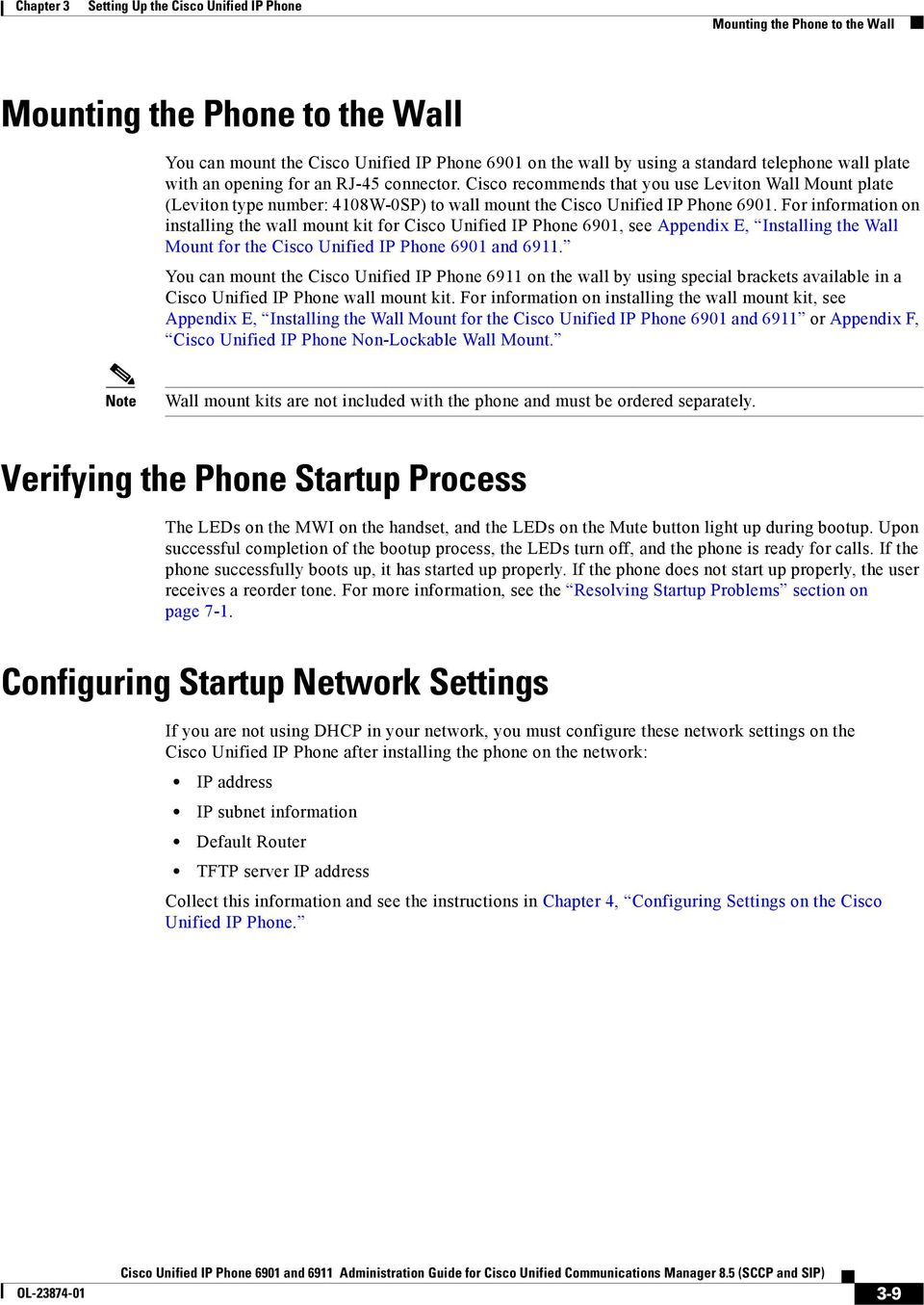 Setting Up the Cisco Unified IP Phone - PDF
