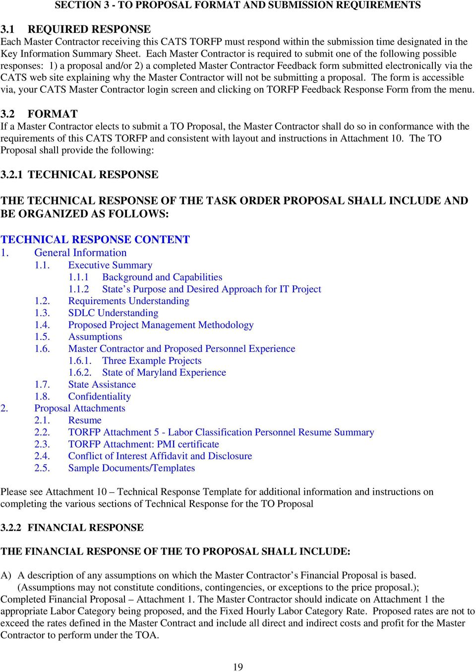 Consulting and Technical Services (CATS) Task Order Request for