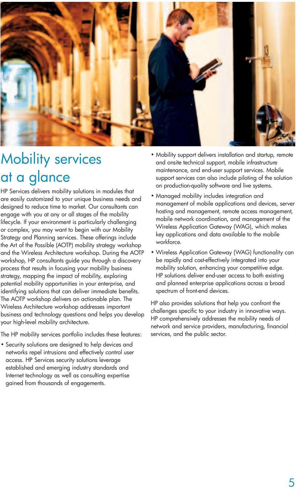 If your environment is particularly challenging or complex, you may want to begin with our Mobility Strategy and Planning services.