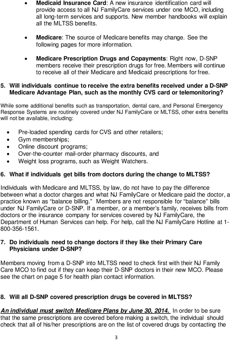 NJ DEPARTMENT OF HUMAN SERVICES FREQUENTLY ASKED QUESTIONS